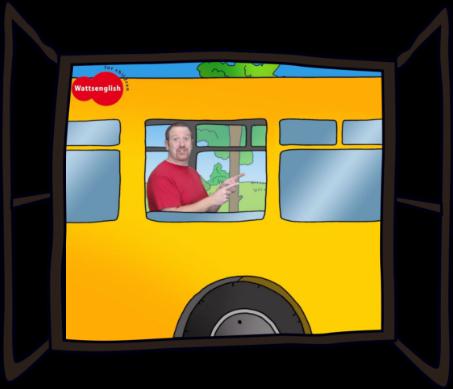 Steve in a bus